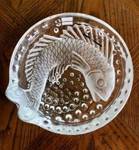 "Lalique Concarneau Koi Fish 6"" Bowl (Cigar Ashtray) Mint + Box Signed Authentic - $196.02"