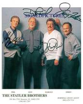 An item in the Entertainment Memorabilia category: THE STATLER BROTHERS GROUP SIGNED AUTOGRAPHED 8X10 PROMO PHOTO CLASSIC COUNTRY
