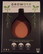 NEW! GrowOya Porous Clay Irrigation Vessel, Medium Oya w/ silicone lid - $27.30 CAD