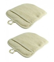 Large Terry Cloth Pot Holders, w/Pocket, Potholders, Oven Mitts, Heat-re... - $16.89