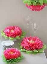 Girls Party Decorations Set 7 Pink Tissue Paper Flowers Pom NEW! USA Fre... - $31.39