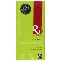 Organic Seed & Bean - Extra Dark (72%) Chocolate Bar - Chilli & Lime - $28.85