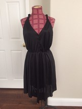 Urban Outfitters Lux Black Button Front Sexy Dress Medium M - £15.03 GBP