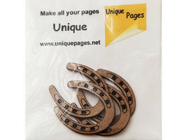Unique Pages Tiny Horseshoe Chipboard Embellishments, 4 Pack #5082-4