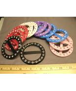 Pack of 12 SCARF RINGS / BELT HOLDERS  - NEW - PLASTIC BLING RHINESTONES - $6.99