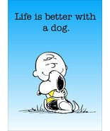 """Charlie Brown Snoopy """"Life Is Better With A Dog"""" Stand-Up Display - Gift... - $15.99"""
