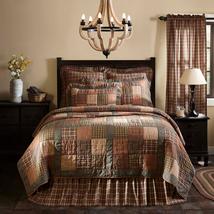 Crosswoods 9-piece Queen Quilt Set - Patchwork Shams, Rug, Pillows, Bed Skirt