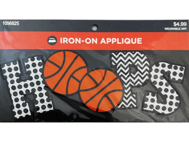 Hobby Lobby Iron-On Applique, HOOPS #1096825