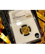 COLOMBIA 1747-56 2 ESCUDOS NGC 50 PIRATE GOLD COINS TREASURE COIN COB JE... - $2,450.00