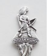 Collector Souvenir Spoon Papua New Guinea Aboriginal Bow Hunter Figural - $14.99