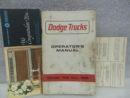 Dodge 100 200 300 Pickup Truck 1965 Owners Manual 16295 - $18.76