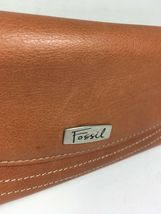 Fossil Brown Leather Clutch Wallet image 10