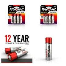 Lot of 2pks RAYOVAC AA  FUSION Advanced Alkaline Batteries, 8pk Brand New - $13.85
