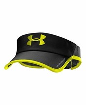 NEW! Under Armour Men's Shadow COLDBLACK Visor-Black/Yellow - $39.48