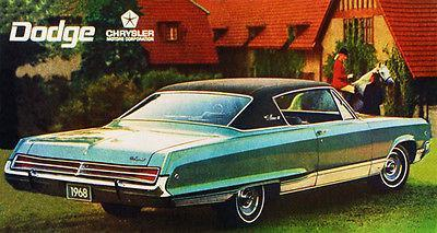 Primary image for 1968 Dodge Monaco - Promotional Advertising Poster