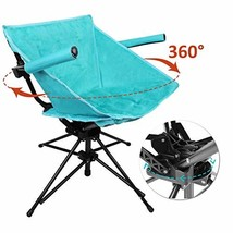 Zenree Outdoor Folding Swivel Hunting Chairs - Portable Camping Chair He... - $65.92