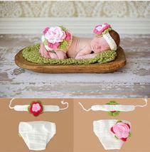 Crocheted Flower Baby Photography Prop, Handmade - $11.28