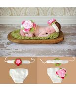 Crocheted Flower Baby Photography Prop, Handmade - $11.28
