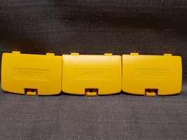 3x Yellow 3rd Party Gamboy Color Battery Covers - $6.88