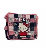 Hello Kitty Black Checker Messenger Bag Large Backpack Purse Women/Girls - $17.99