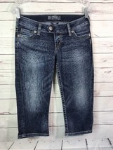 Silver Jeans Tuesday Capri Stretch Low Rise Womens Cropped Jeans Sz 26x17.5 - $20.56