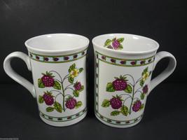 Set of 2 Designpac BLACKBERRY 10 oz. Coffee Mugs - $9.60