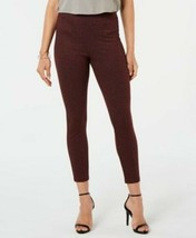 New Hue Leggings Tweed Knit High Waist Cropped Sangria Red Size 2XL - $16.99