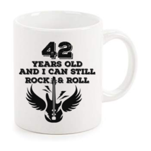 Rock And Roll Mug 42nd Birthday Gifts Rock n Roll Mug Best Birthday Coffee Mugs - $14.95