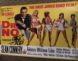 "SEAN CONNERY signed AUTOGRAPHED James Bond ""DR.NO"" movie POSTER - $749.99"