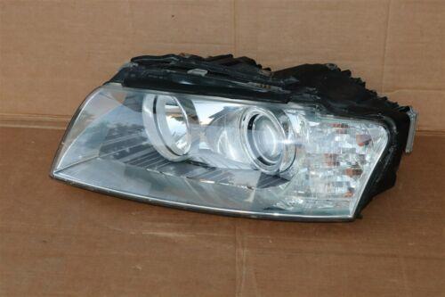04-05 Audi A8 A8L HID Xenon AFS Adaptive Headlight Drive Left LH - POLISHED