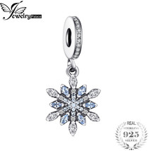 Jewelrypalace 925 Sterling Silver Froast Flower Created Blue Nano Dangle... - $22.71+