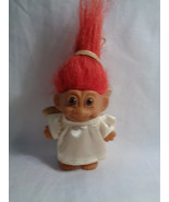 Vintage 1990's Russ Christmas Holiday Angel Ornament Troll Doll Red Hair... - $8.17