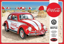Polar Lights Volkswagen Beetle Coca Cola 1/25 Scale Model Kit New in Box - $29.88