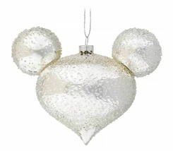 Disney Parks Silver Ice Icon Ornament - Mickey Mouse Icon - Drop - $46.48