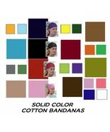 """SOLID COLOR Cotton 22"""" BANDANA Head Skull Wrap Neck Scarf Scarve Cap Fac... - $4.16"""