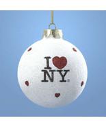 I Love NY Christmas Ornament Item #NY0708 by Kurt Adler-Holiday! - $11.57