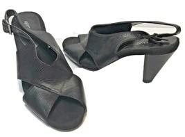 Aerosoles Womens Black Pump Sandals Buckle Size 10M - $18.54