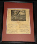 The Star Spangled Banner Lyrics Framed 18x24 Parchment Paper Reproduction - $93.14