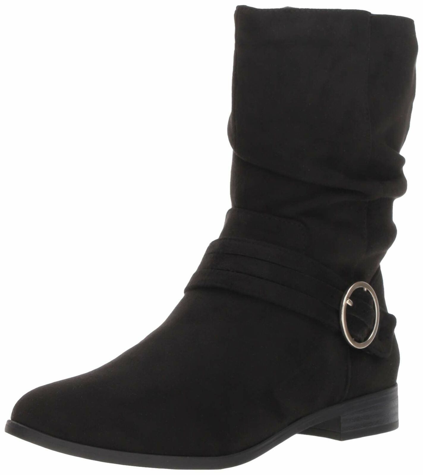 Primary image for Dr. Scholl's Shoes Women's Ripple Mid Calf Boot 6 Black Microfiber