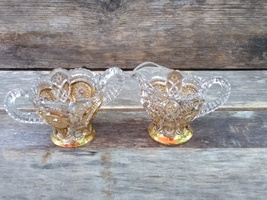 Imperiao Glass Sugar and Creamer Set,  Fashion Gold - $40.00