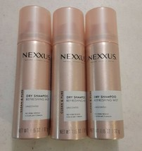 Nexxus Dry Shampoo Travel Size Refreshing Mist Unscented 1.15 oz Lot of 3 - $8.91
