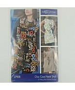 Chic Cowl Neck Shift Dress  INDYGO JUNCTION IJ908 TRENDY SEWING PATTERN  - $13.49