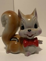 Vintage Anthropomorphic ARNART Squirrel Chipmunk Red Bow Tie Japan  - $64.35