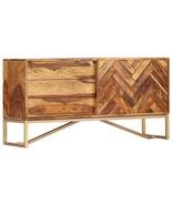 vidaXL Solid Sheesham Wood Sideboard Side Cabinet Chest of Drawer Storag... - $241.99