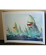 """""""July Sails"""" by Victor Spahn Signed Seriolithograph 16 x 22  w COA  Park... - $78.21"""