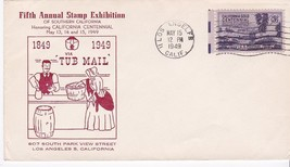 5TH ANNUAL STAMP EXHIBITION VIA TUB MAIL LOS ANGELES, CA MAY 15, 1949 - $3.36
