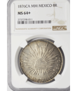 1876CA MM Mexico Republic Silver Eight 8 Reales KM#377.8 NGC MS64+ Top Pop - $989.99