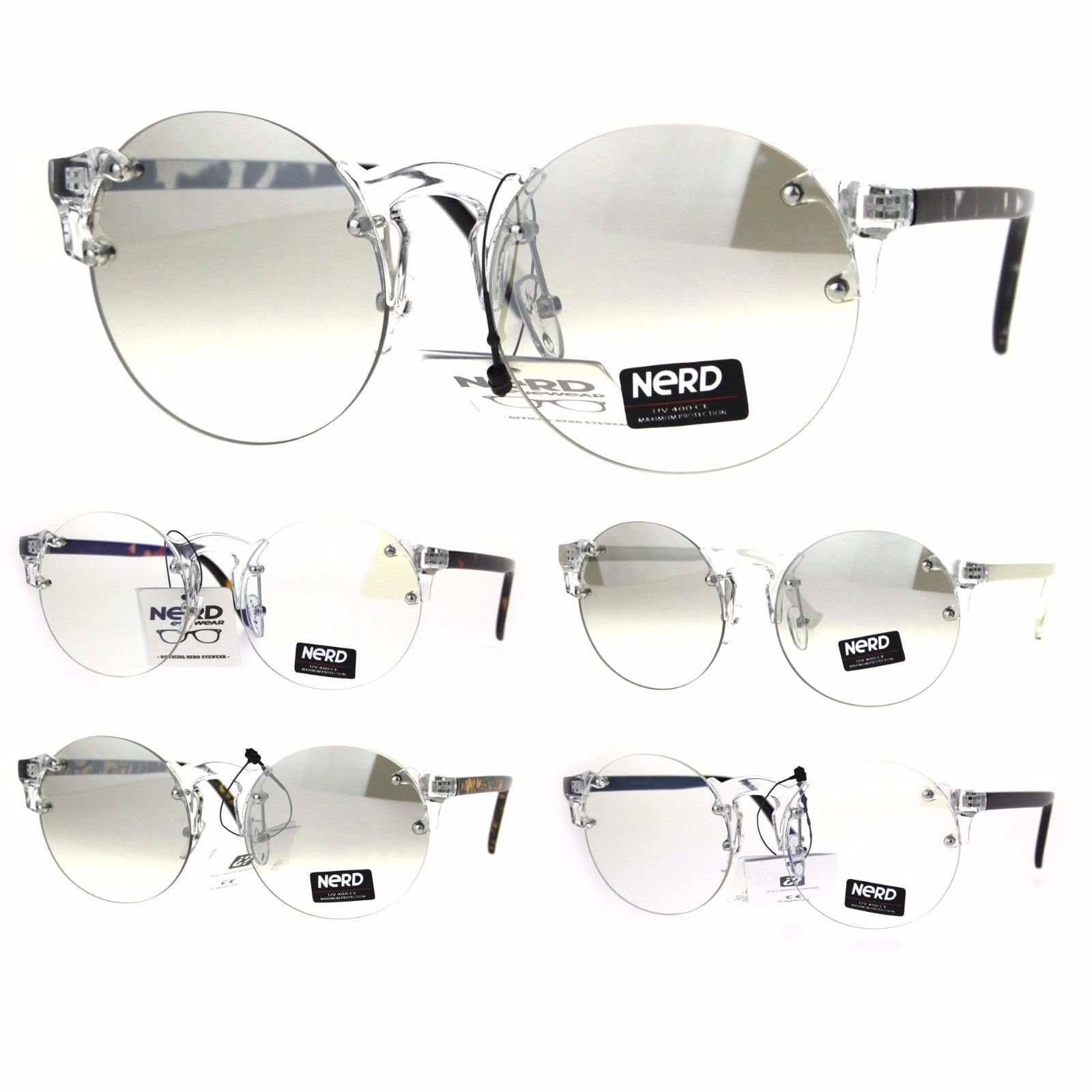 cefcb9175ec8 S l1600. S l1600. Previous. Nerd Round Rimless Hipster Clear Horn Rim  Plastic Eye Glasses. Nerd Round Rimless Hipster ...