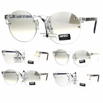 Nerd Round Rimless Hipster Clear Horn Rim Plastic Eye Glasses - $12.95