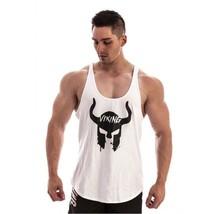 VIKING Gyms mens t shirts Summer Cotton Slim Fit Men Tank Tops Clothing ... - $22.15